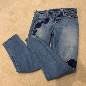 GAP embroidered jeans